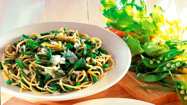 Spaghettini Menta e Piselli