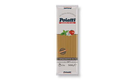 Spaghetti Integrali n.3 <span class='confezioni'>24 Confezioni da 500 gr. </span>